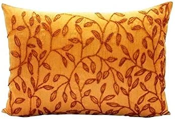The HomeCentric Cushion Cover for Sofa Designer Orange King Shams, Floral King Pillow Shams, 20×36 inch 50×90 cm Silk King Pillow Shams, Floral King Shams – Juicy
