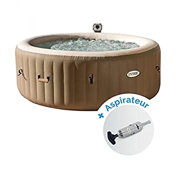 Pack Spa hinchable Intex PureSpa burbujas 4 personas redondo ...