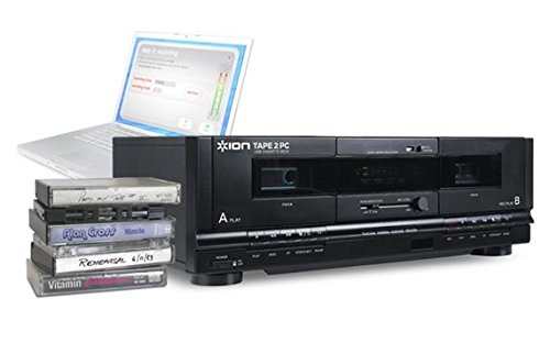 ION Audio Tape 2 PC | USB Cassette Deck Conversion System with RCA & USB cables (Cassette To Cd Conversion)
