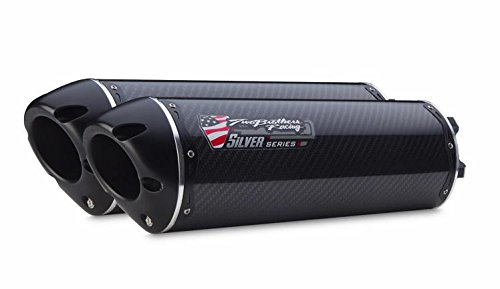 Two Brothers Racing (005-1930405DM-S) Silver Series M-2 Carbon Fiber Canister Dual Slip-On Exhaust System