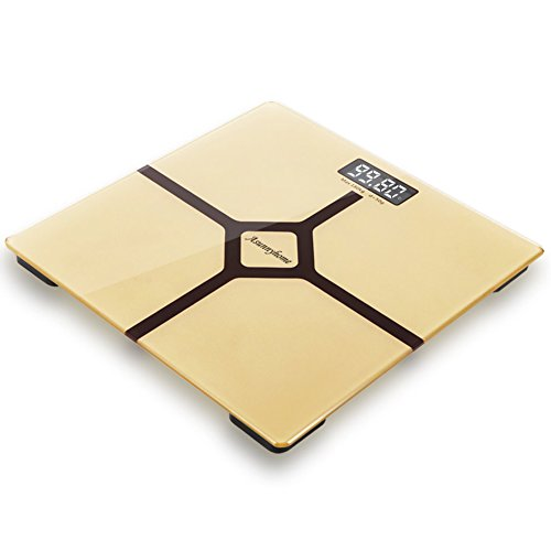 Asunnyhome Bathroom Scale with Quality Upgrade, Digital Body Weight 400 pounds- Elegant Gold