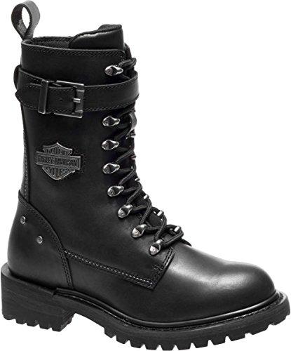 - Harley-Davidson Women's Calvert 8-Inch Motorcycle Boots D87153 (Black, 9.5)