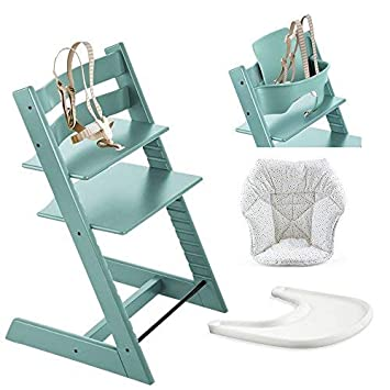 Amazon Com Stokke Tripp Trapp High Chair Baby Set Aqua Blue