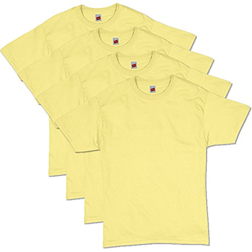 Hanes Men's ComfortSoft T-Shirt (Pack of 4),Yellow,X Large