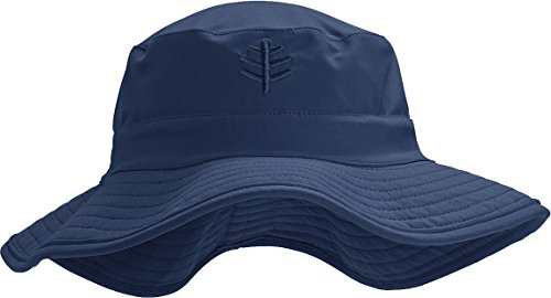 [Coolibar UPF 50+ Kids' Surfs Up Bucket Hat - Sun Protective (Large/X-Large - Navy)] (Hats 4 U)