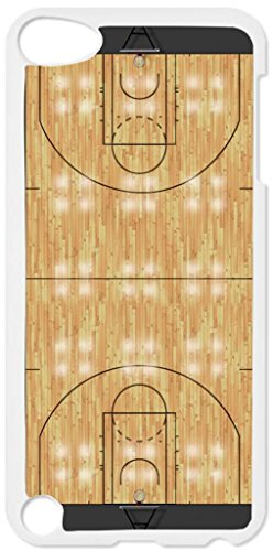 Basketball Court- Case for the Apple Ipod 5th Generation-Hard White Plastic (Ipod Case Court 5 Basketball)