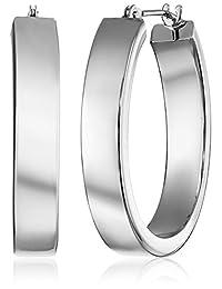 """14k Gold Oval Hoop Earrings, 1"""""""