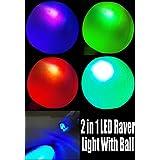 Flashing Panda Inflatable LED Flashing Multicolor 12 Inch Beach Ball or Decorative Lantern