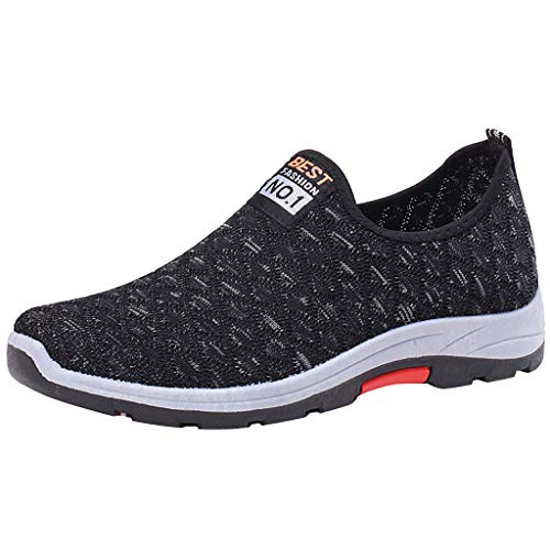 Slip On Sneakers,ONLY TOP Lightweight Casual Mesh Shoes Breathable Running Sneakers Fashion Loafer Walking Shoes Grey ()