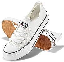 JENN ARDOR Women's Low Top Fashion Sneakers Casual Canvas Shoes Mesh Knit Slip On Sneaker Flats