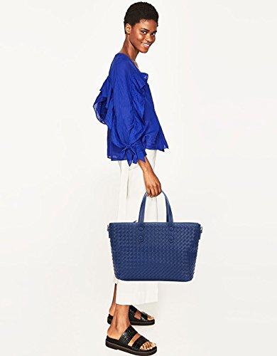 NICOLE&DORIS Bolsos de Mano para Mujer Monederos Bolso Grande Tote Crossbody Mujer Bolso de Bandolera Bolsa Durable PU Gris-Plata Azul Claro