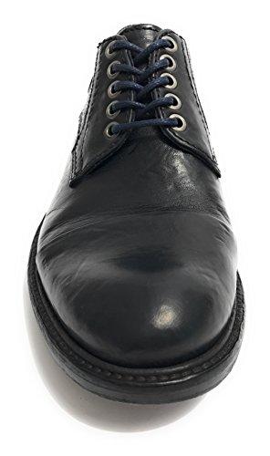 Lorenzi, Mannen Lace Up Brogues Zwart Zwart