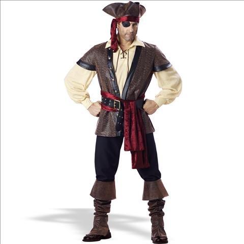 InCharacter Costumes Men's Rustic Pirate Costume, Tan/Brown, Medium