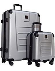 Kenneth Cole Reaction Get Away 2-Piece Expandable Upright Luggage Spinner Set: 29 and 16 Carry On Under Seat...