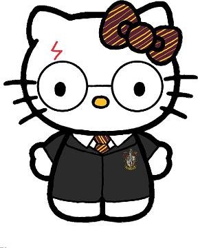 Harry Potter Hello Kitty Car Window Wall Macbook Notebook Laptop Sticker Decal