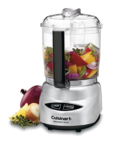 Cuisinart DLC-4CHB Mini-Prep Plus 4-Cup Food Processor, Brushed Stainless