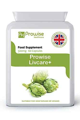 Livcare+ 500mg 60 Capsules–UK Manufactured | GMP Standards by Prowise Healthcare – Suitable for Vegetarians & Vegans