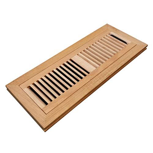 (Homewell Red Oak Wood Floor Register, Flush Mount Vent with Damper, 4X14 Inch, Unfinished)