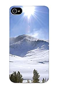 Hot Tpu Cover Case For Iphone/ 4/4s Case Cover Skin Design - Sunlit Mountains by supermalls