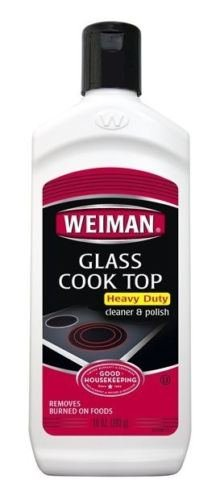Weiman Glass Cooktop Cleaner & Polish Heavy Duty Stove 10oz Bottle Cleaning