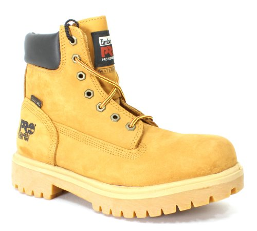 Timberland PRO 65016 Mens Direct Attach 6'' Steel Toe Boot (Wheat, 8 M US) by Timberland PRO