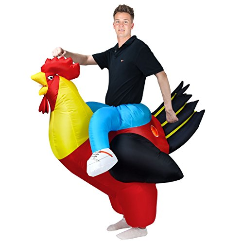 ANOTHERME Rooster Inflatable Costume Animal Holiday Blow up Fancy Dress for Adults ()