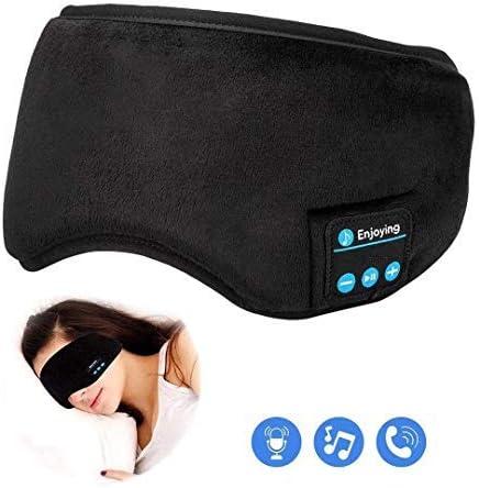 Bluetooth Sleeping Headphones,Perytong Skin-Friendly Wireless Music Bluetooth Sleep Eye Mask,Upgraded Travel Sleeping Headset,Bluetooth Handsfree Sleep Eye Shades Built-in Speakers Microphone Washable