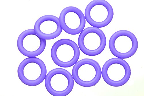Blue Moon Beads Wholesale (25pcs Iris Blue O-Ring For Flat Licorice Leather 8x2mm)