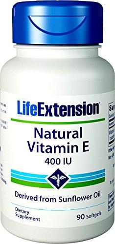 Life Extension Natural Vitamin E, 400 IU, 90 Softgel
