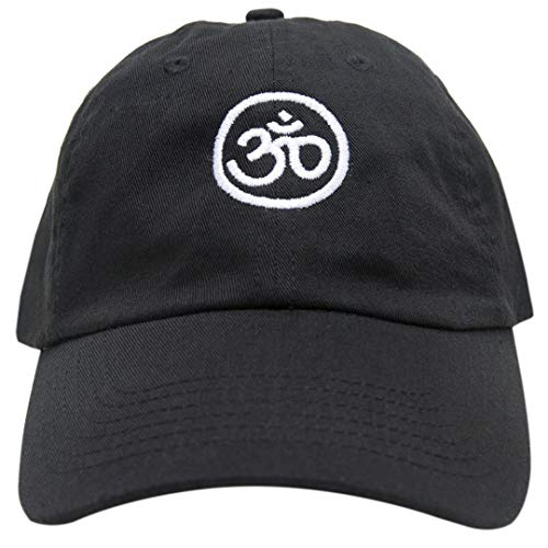 Om Symbol Baseball Cap Embroidered Dad Hat Unstructured Low Profile Adjustable Strap Back (Black)