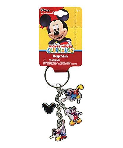 Silver Mickey Mouse Llavero - Disney Key Ring: Amazon.es ...