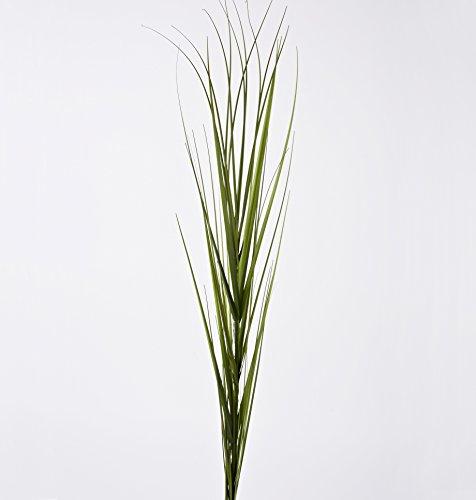 Zweig Gras Pflanze Kunstblume 100cm grün Kunstpflanze Deko