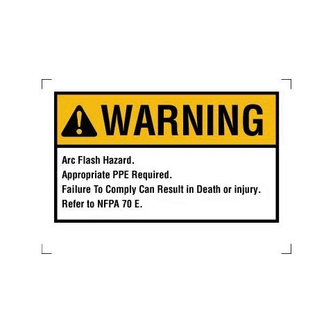 Ideal 44-892 Arc Flash Warning Labels ()