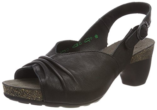00 2 82571 Women black schwarz Think Sandals Black TRAUDI OW1zYx0R