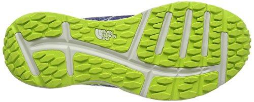The North Face M Litewave Tr, Zapatillas de Running para Hombre Azul (Blue Quartz / Lantern Green)