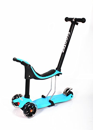 WiiSHAM 3 in 1 Toddler Scooters with Detachable Seat and 3 Wheels Blue
