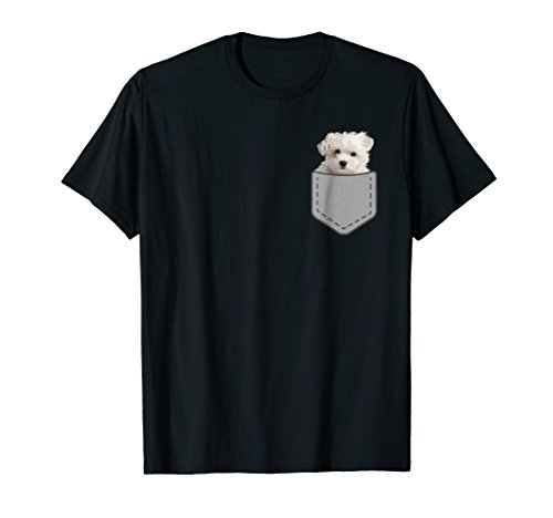 - Maltese puppy dog in your pocket T-Shirt