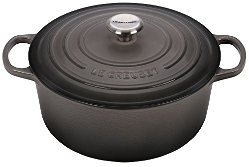 Le Creuset Signature Enameled Cast-Iron 7-1/4-Quart Round French (Dutch) Oven, (Le Creuset Enameled Stoneware)