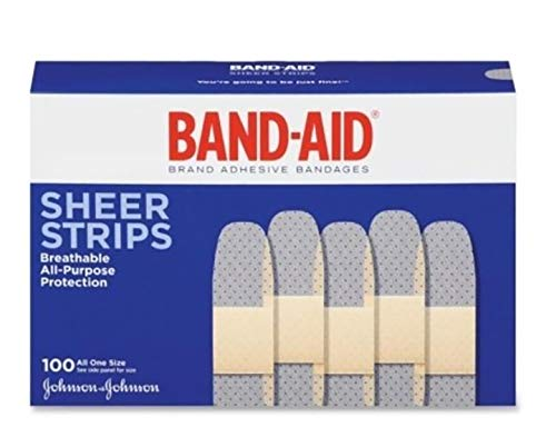 BAND-AID Brand Adhesive Bandages, Sheer Strips, 3/4