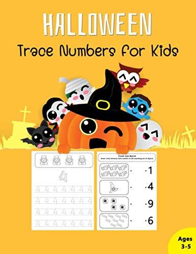 Halloween Trace Numbers: For Preschoolers Trace Workbook Count
