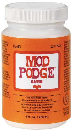 (Mod Podge CS11272 Waterbase Sealer, Glue and Finish, Satin, 8 Ounce)
