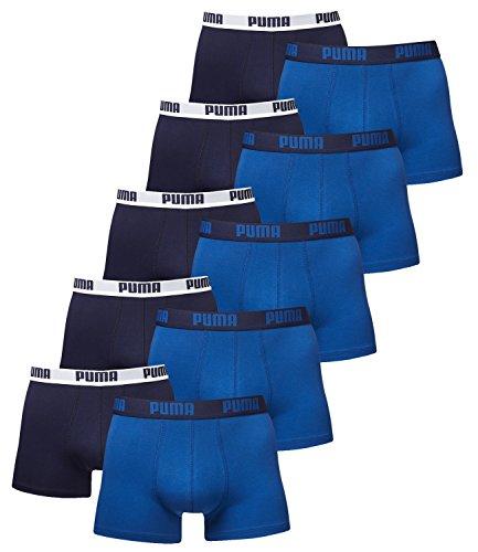PUMA Boxer Corti da Uomo Basic - Confezione da 10 Pz. True Blue