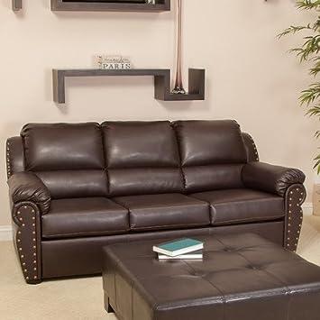 Remarkable Amazon Com Best Selling Hadley Leather Sofa Bed Brown Inzonedesignstudio Interior Chair Design Inzonedesignstudiocom