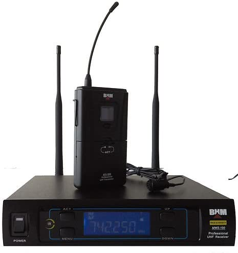 Sistema UHF con micrófono corbata emitir cinturón y micrófono ...