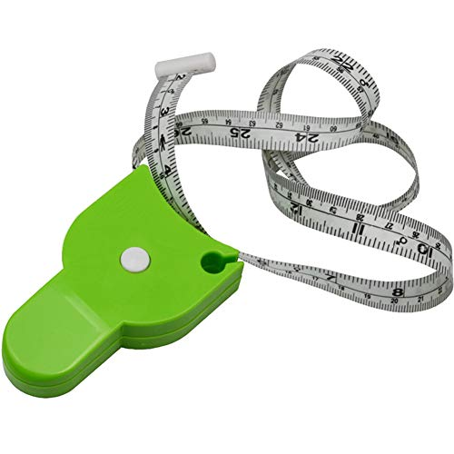 Finance Plan Retractable Body BMI Mass Index Measuring Tape Chest Waist Hip Ruler Health Care Green