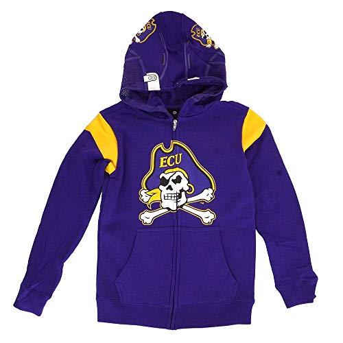 Outerstuff East Carolina Pirates NCAA Purple Helmet Full Zip Hoodie Jacket Youth (Carolina East Pirates Ncaa Helmet)