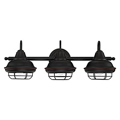 Designers Impressions Charleston Oil Rubbed Bronze 3 Light Wall Sconce/Bathroom Fixture: 10010