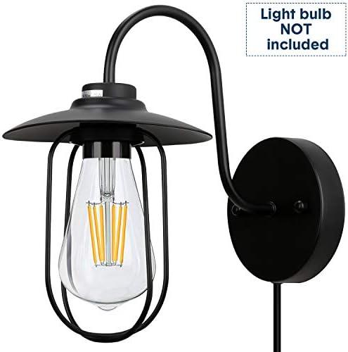 Lamomo Wall Sconce,Gooseneck Barn Light,Indoor Wall Lamp,Industrial Vintage Wall Lantern for Farmhouse,Bathroom,Bedroom,Kitchen,Porch,Livingroom