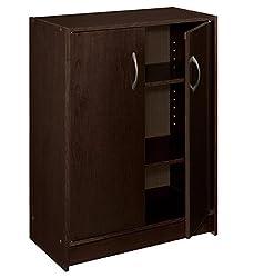ClosetMaid 8925 2-Door Stackable Laminate Organizer, Espresso