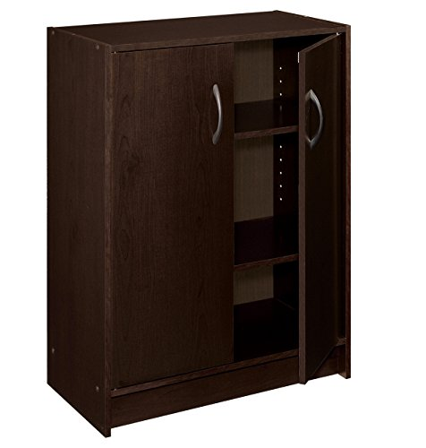 ClosetMaid 8925 2-Door Stackable Laminate Organizer, Espresso (Stacking Bookcase 2 Door)